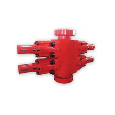 Ram blowout preventer with hydraulic starting and closing side door